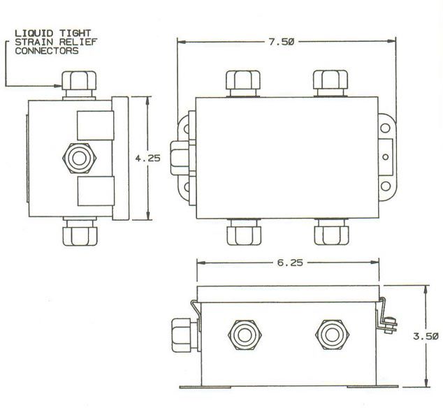 rib relay in a box wiring diagram item # sjb2/1, summing junction boxes on strainsert co. #5