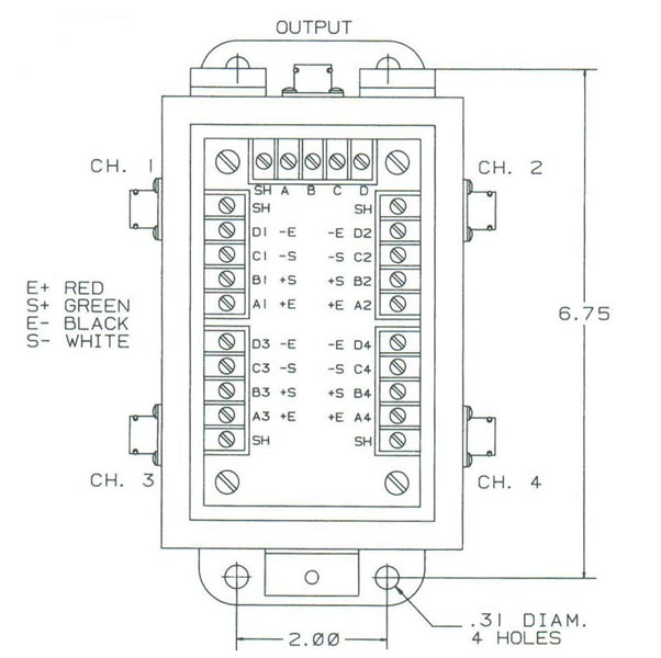 item # sjb2/1, summing junction boxes on strainsert co. pro p ignition box wiring diagram #1